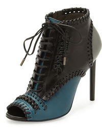 Lace up whipstitch ankle boot medium 20108