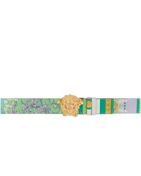 Versace Multicolor Barocco Medusa Belt