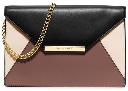 4a8d0873f488ee Michael Kors Michl Kors Lana Color Block Leather Envelope Clutch, $228 | Michael  Kors | Lookastic.com