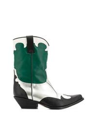 Emporio Armani Pointed Campero Boots