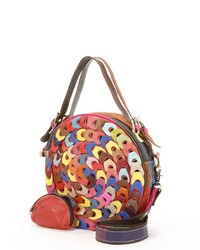 Amerileather Dream Catcher Convertible Leather Crossbody Bag