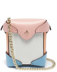 Atelier Manu Pristine Colourblock Micro Leather Crossbody Bag