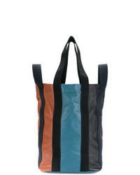 Multi colored Leather Duffle Bag