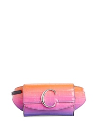 Chloé Degrade C Croc Embossed Leather Belt Bag