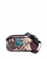 Moschino Graphic Print Leather Belt Bag