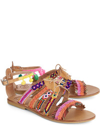 Elina Linardaki Multi Leather Hula Hoop Sandals