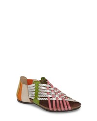 Multi colored Leather Gladiator Sandals