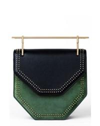 M2MALLETIE R Mini Amor Fati Leather Velvet Shoulder Bag