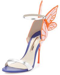 Sophia Webster Chiara Butterfly Wing Ankle Wrap Sandal Pinksilver