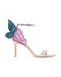 Sophia Webster Chiara Mirrored And Glittered Leather Sandals
