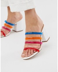 ASOS DESIGN Hanson Clear Block Heeled Sandals