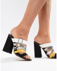 ASOS DESIGN Hertz Multi Strap Heeled Sandals