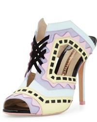 Sophia Webster Riko Colorblock Mule Sandal Aqua