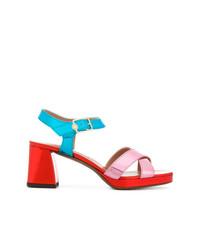 L'Autre Chose Side Strap Block Heel Sandals