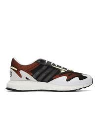 Y-3 Black And White Rhisu Run Sneakers