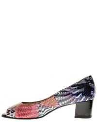 Multi color peep toe pump medium 521510