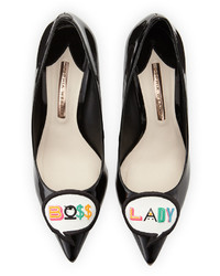 Sophia Webster Boss Lady Patent Leather Pump Black