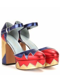 Marc Jacobs Victoria Platform Leather Pumps