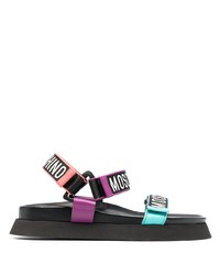 Moschino Logo Tape Sandals