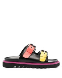 Moschino Open Toe Buckled Sandals