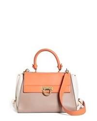Multi colored Leather Satchel Bag