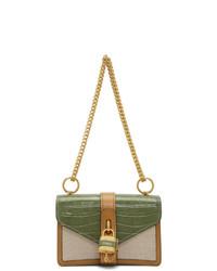 Chloé Green And Tan Canvas Abby Bag