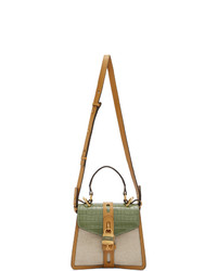 Chloé Off White And Green Small Aby Day Bag