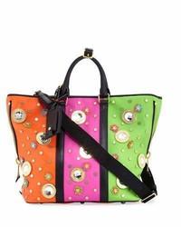Moschino Trinket Colorblock Tote Bag Multi