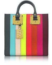 Rainbow albion saddle leather square tote medium 1317567