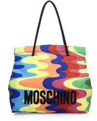 Rainbow print nylon tote medium 1317584