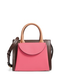 Marni Small Law Colorblock Leather Satchel