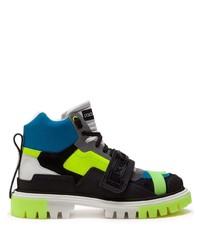 Dolce & Gabbana Colour Block Lace Up Boots