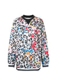 NO KA 'OI No Ka Oi Printed Leopard Sweatshirt