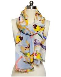 Saachi Flying Birds Scarf Multi Multicolor