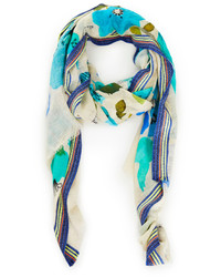 Vismaya Water Floral Scarf In Multi Colored