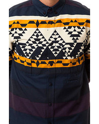 3e39969cbbfa 10.Deep 10 Deep The Badlands Jacquard Buttondown Shirt