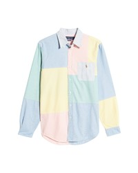 Polo Ralph Lauren Classic Fit Colorblock Cotton Button Up Shirt