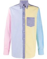 Paul & Shark Colour Block Fitted Shirt