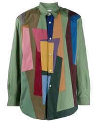 Comme Des Garcons SHIRT Comme Des Garons Shirt Colour Block Shirt