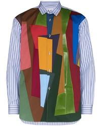 Comme Des Garcons SHIRT Comme Des Garons Shirt Colour Block Striped Shirt