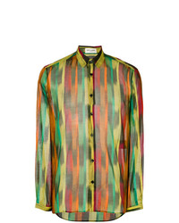 Saint Laurent Graphic Brush Stroke Shirt