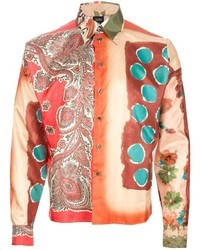 Jean Paul Gaultier Vintage Multi Print Boxy Shirt