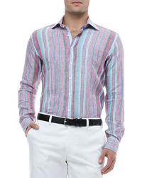 Etro Multi Striped Linen Shirt