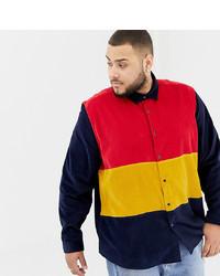ASOS DESIGN Plus Cord Cut Sew Overshirt