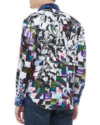 LookasticSir Neil Abstract Print Shirt Multi