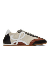 Loewe Beige And Navy Ballet Runner Sneakers