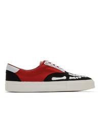 Amiri Black And Red Skeleton Toe Sneakers