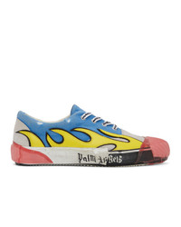 Palm Angels Blue And Grey Flame Sneakers