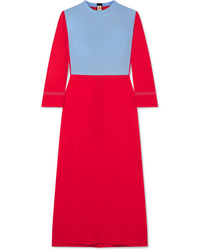 Marni Two Tone Crepe Midi Dress
