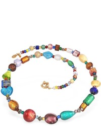 Antica murrina fanny multicolor murano glass bead necklace medium 383052